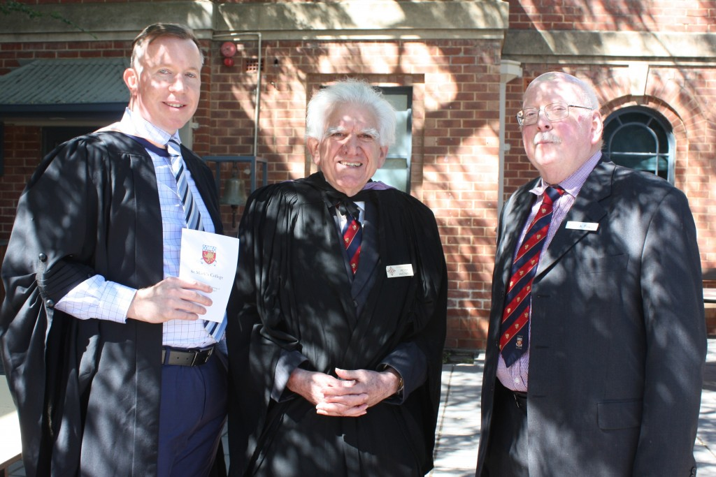 Dean of Studies Ashley Files with alumni Peter Hastwell and Patrick Bagot