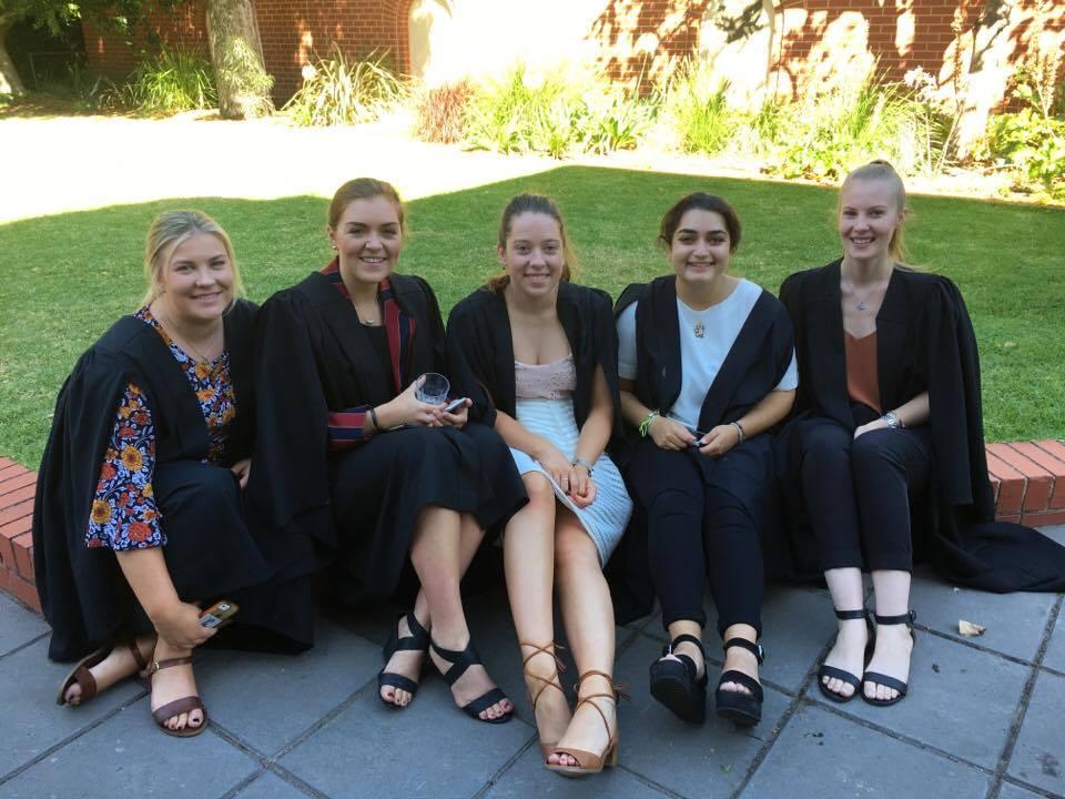 Students Jemima Staude Mary Seagrim Courtney Elmitt Nina Gharbi and Morgan Goss