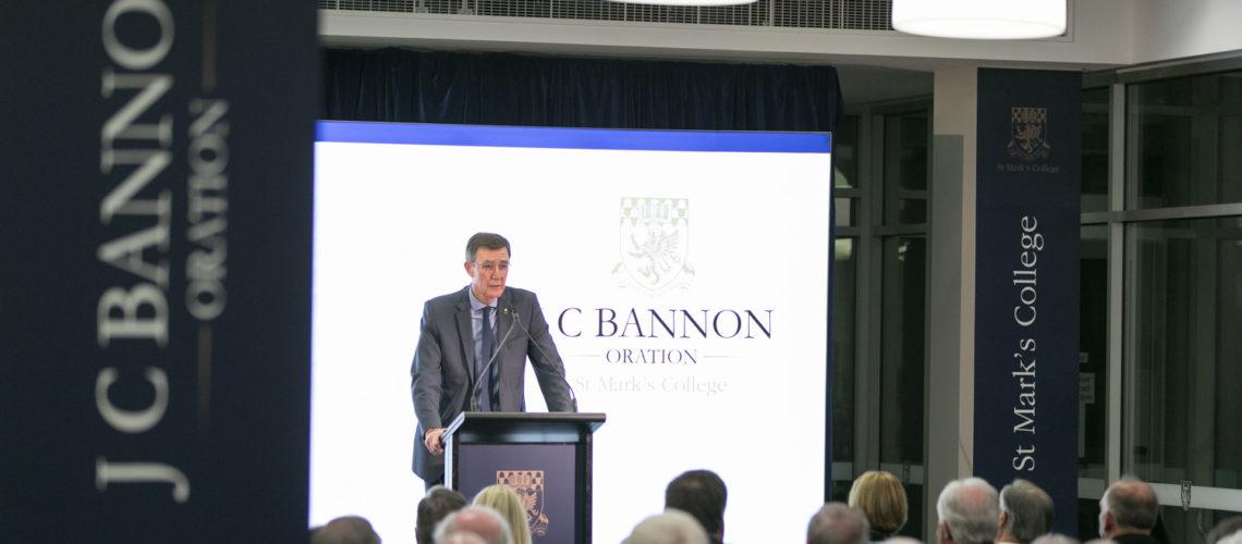 Inaugural J C Bannon Oration